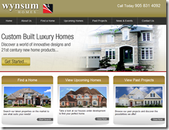 Wynsum Homes Website by TechWyse