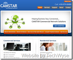 Camstar Website by TechWyse
